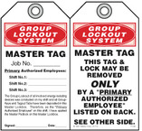 GROUP LOCKOUT SYSTEM, MASTER TAG