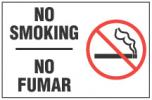 NO SMOKING, NO FUMAR (English/Spanish) With Symbol