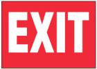 EXIT (Red Background)