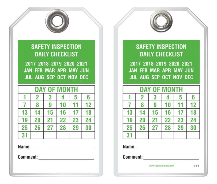 An Operational Safety Tag for Every Danger Under the Sun