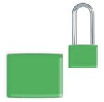 Green Lockwrap® Color-Coded Padlock Sleeve
