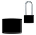 Black Lockwrap® Color-Coded Padlock Sleeve