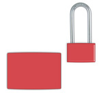 Red Small Lockwrap® Color-Coded Padlock Sleeve