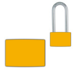 Yellow Small Lockwrap® Color-Coded Padlock Sleeve