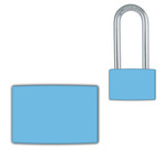 Blue Small Lockwrap® Color-Coded Padlock Sleeve