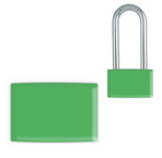 Green Small Lockwrap® Color-Coded Padlock Sleeve