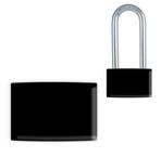 Black Small Lockwrap® Color-Coded Padlock Sleeve