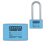 Lockwrap® Color-Coded Padlock Sleeve, Blue, Small, Danger, Locked Out