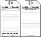 Instructions  Self-Laminating Peel and Stick Safety Tag
