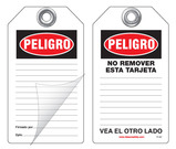 Peligro Self-Laminating Peel and Stick Safety Tag (Spanish)