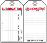 Lubrication Self-Laminating Peel and Stick Safety Tag