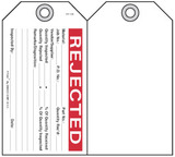 Rejected Self-Laminating Peel and Stick Safety Tag