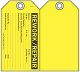 Rework/Repair Self-Laminating Peel and Stick Safety Tag