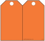 Orange (Blank) Self-Laminating Safety Tag Kit