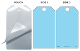 Blue (Blank) Self-Laminating Safety Tag Kit