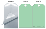 Green (Blank) Self-Laminating Safety Tag Kit