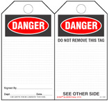 Danger Paper Safety Tag