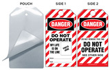 Danger, Do Not Operate, My Life Is On The Line Self-Laminating Tag Kit (Striped)