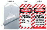 Danger, Do Not Operate, Equipment Locked Out By Self-Laminating Tag Kit