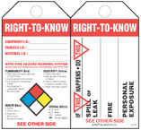 Right-To-Know  (Spills, Leaks, Fire, Exposure) Safety Tag Kit