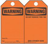 Warning Self-Laminating Safety Tag Kit