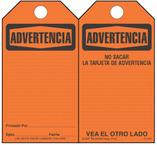 Advertencia (Spanish) Self-Laminating Safety Tag Kit