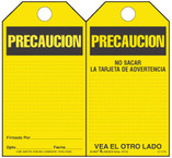 Precaution (Spanish) Self-Laminating Safety Tag Kit