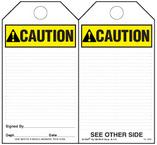 Caution (Ansi) Self-Laminating Safety Tag Kit