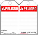 Peligro (Ansi, Spanish) Self-Laminating Safety Tag Kit