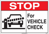 Stop For Vehicle Security Check