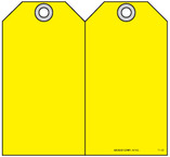 Safety Tag - Blank Yellow