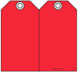 Safety Tag - Blank Red