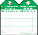 Maintenance Safety Tag - Safety Equipment Inspection