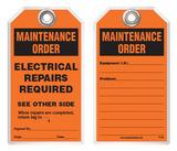 Maintenance Safety Tag - Emergency Eyewash Maintenance