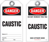 Safety Tag - Danger, Caustic