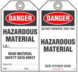 Safety Tag - Danger, Hazardous Materials