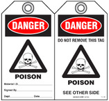 Safety Tag - Danger, Poison