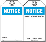 Safety Tag - Notice