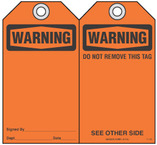 Safety Tag - Warning