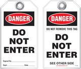 Safety Tag - Danger, Do Not Enter