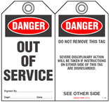 Maintenance Safety Tag - Danger, Out of Service