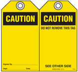 Safety Tag - Caution