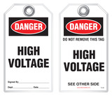 Safety Tag - Danger, High Voltage