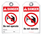 Lockout Safety Tag - Danger, Do Not Operate (Ansi)
