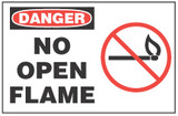 Danger Sign, No Open Flame (With Symbol)