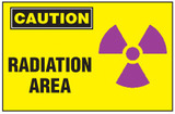 Caution Sign, Radiation Area (With Symbol)