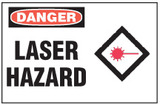 Danger Sign, Laser Hazard (With Symbol)
