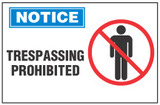 Notice Sign, Trespassing Prohibited (With Symbol)