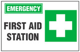 Emergency Sign, First Aid Station