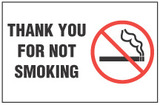 No Smoking Sign - Thank You For Not Smoking (With Symbol)